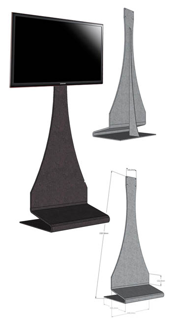 Porta Tv Totem.Etm047 Oven Painted Plate Standing Multimedia Totem For Tv